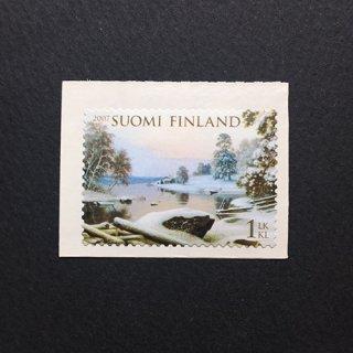 フィンランドの切手・雪景色・2007(セルフ糊)