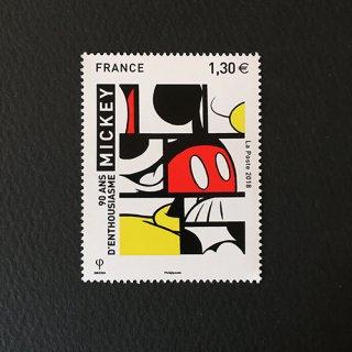 フランスの切手・ミッキーマウス誕生90年・2018