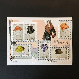 フランスの切手・帽子・MS・2018
