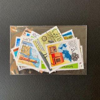 地図のパケット切手・約50枚