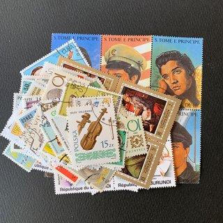 音楽のパケット切手・約100枚