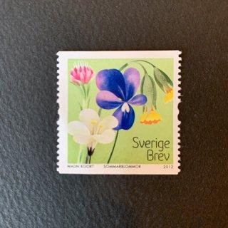 スウェーデンの切手・草原の花・2012