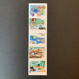 スウェーデンの切手・レトロ・2017(5)セルフ糊