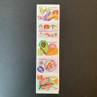 スウェーデンの切手・食・2016(5)セルフ糊