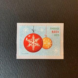 スウェーデンの切手・クリスマス・2015(セルフ糊)