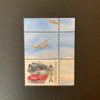 チェコの切手・昔の車と蒸気機関車・2017