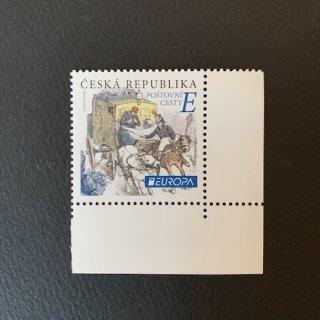 チェコの切手・ヨーロッパ・昔の郵便ルート・2020