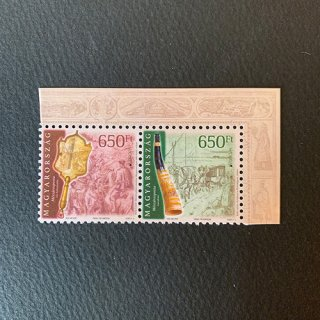 ハンガリーの切手・ヨーロッパ・昔の郵便ルート・2020(2)