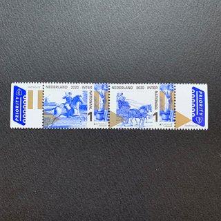 オランダの切手・ヨーロッパ・昔の郵便ルート・2020(2)
