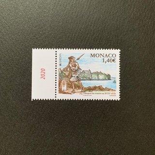 モナコの切手・ヨーロッパ・昔の郵便ルート・2020