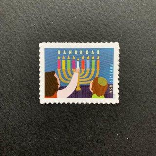 USAの切手・ハヌカー祭・2020(セルフ糊)