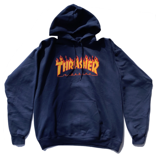 <img class='new_mark_img1' src='https://img.shop-pro.jp/img/new/icons5.gif' style='border:none;display:inline;margin:0px;padding:0px;width:auto;' />THRASHER【スラッシャー】FLAME LOGO/ NAVY