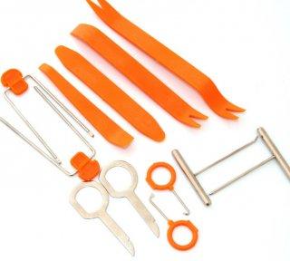 ベンツ用カーオーディオ、ドア内装・取り外し工具12個セット W211 W221 W220 W163 W164 W203 C E SLK GLK CLS GL