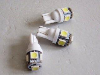 メーターパネル用LEDバルブ ウエッジ球(T10) 3個