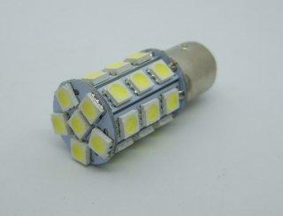 27SMD LED ダブル球 ホワイト ・レッド テール・ストップランプ 省電力型