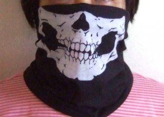 フェイスマスク(プロテクター)薄手 紫外線対策/虫除け/顔の保護に ハイキング・トレッキング・汗とり 90% UVカット