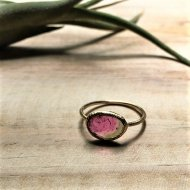 <img class='new_mark_img1' src='//img.shop-pro.jp/img/new/icons14.gif' style='border:none;display:inline;margin:0px;padding:0px;width:auto;' />Blooming Ancient flowers Ring bi-color( watermelon tourmaline)