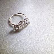 ~in the Light~Triple Herkimer Diamond Ring (P.Silver)