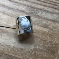 Lace Agate Flat Ring