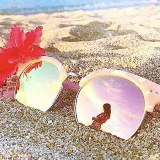 Marble Pattern Mirror Sunglasses