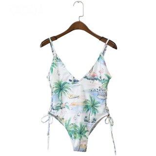 Palm Tree one-piece Bikini