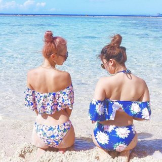 【new】Flower Off Shoulder Bikini