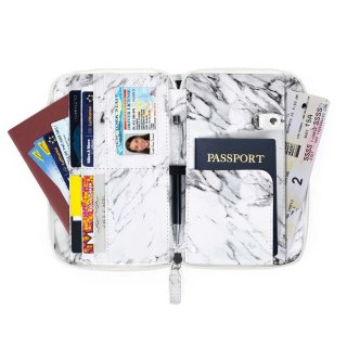 Travel Wallet ( marble stone )