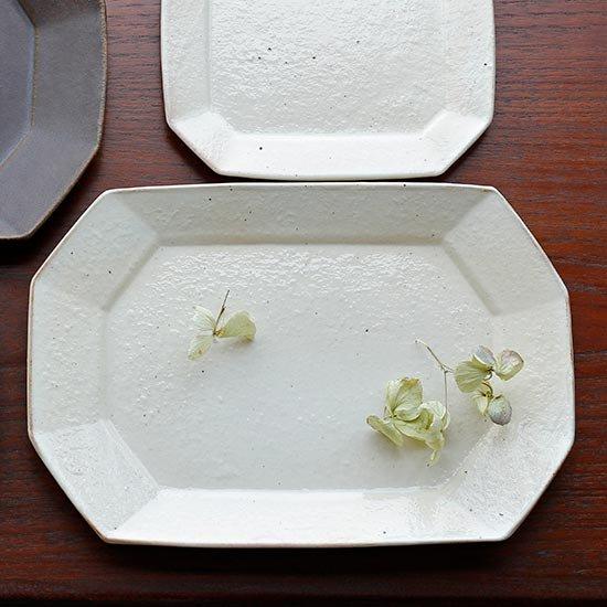 八角プレート 鉄散 / 古谷製陶所