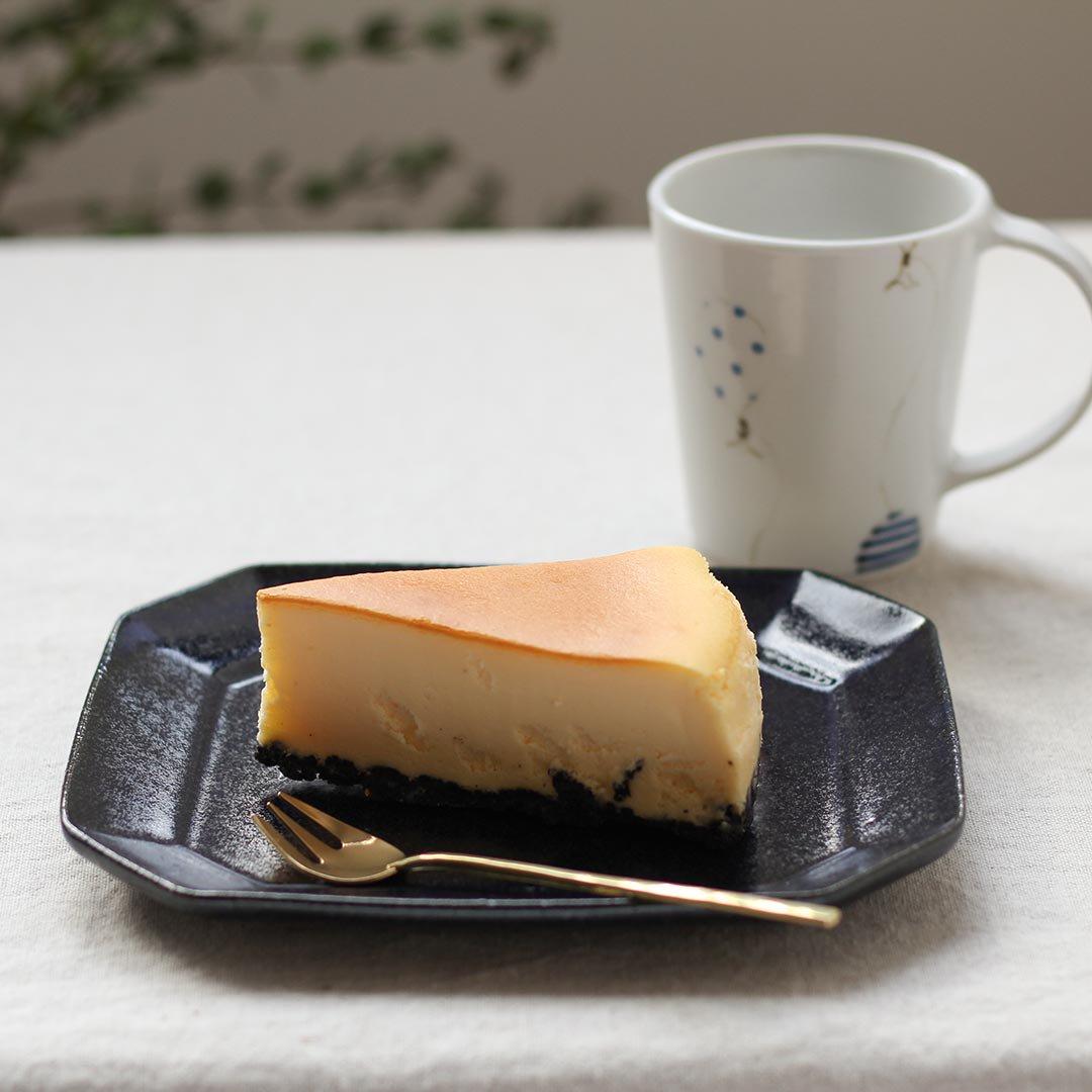 八角ケーキ皿 鉄散(テッサン) / 古谷製陶所