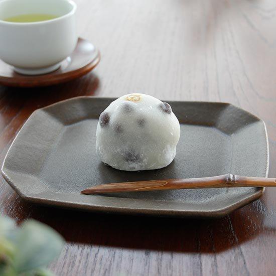 八角ケーキ皿 サビ釉 / 古谷製陶所