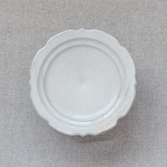 彫刻コンポート皿13cm 鉄散 / 古谷製陶所
