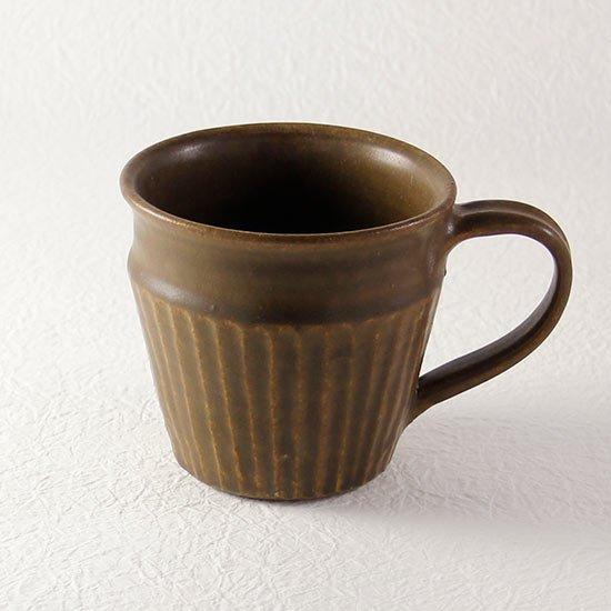 マグカップ しのぎ サビ釉  / 古谷製陶所