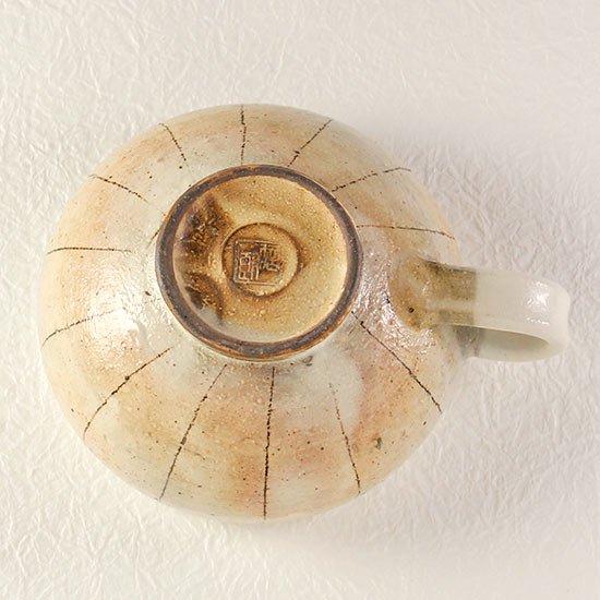 スープカップ 手付丸 たて鉄線 / 古谷製陶所