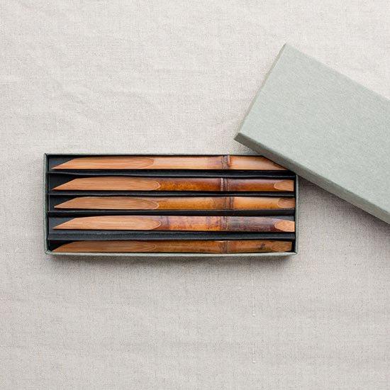 煤竹の菓子切り 5本セット