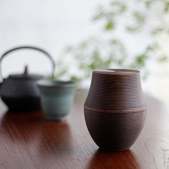 木製茶筒 KARMI 釜 フキ / 我戸幹男商店