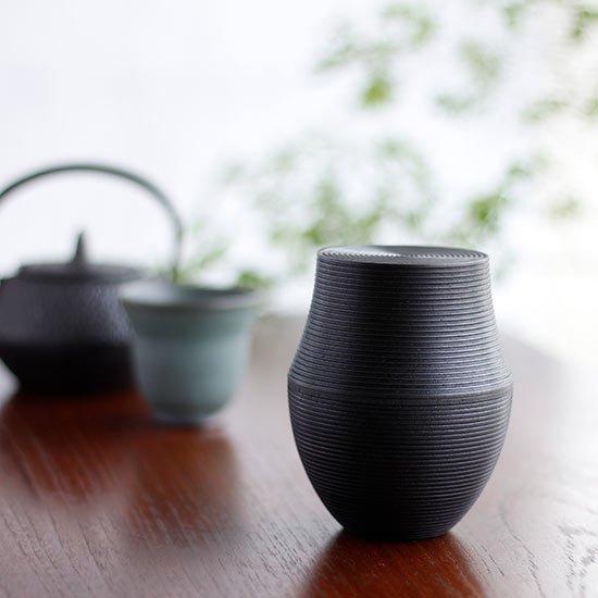 木製茶筒 KARMI 釜 スミ / 我戸幹男商店