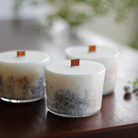 ソイグラスハーブキャンドル / confetti candle
