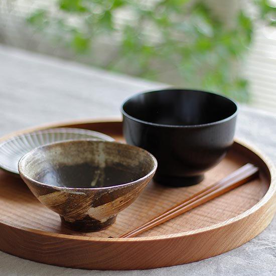 丸盆 くるみ 30cm / 堀宏治