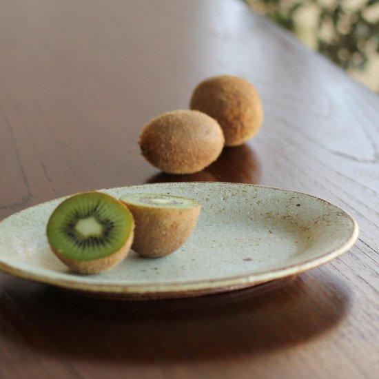 リムオーバル皿 小 黄粉引 / 佐藤敬