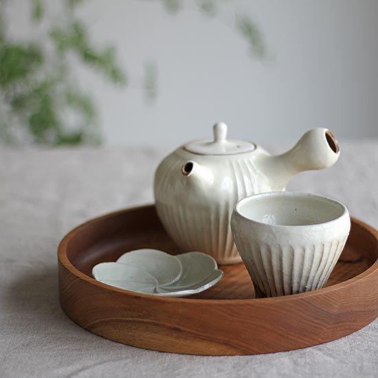 フリーカップ  鉄散線彫 / 古谷製陶所