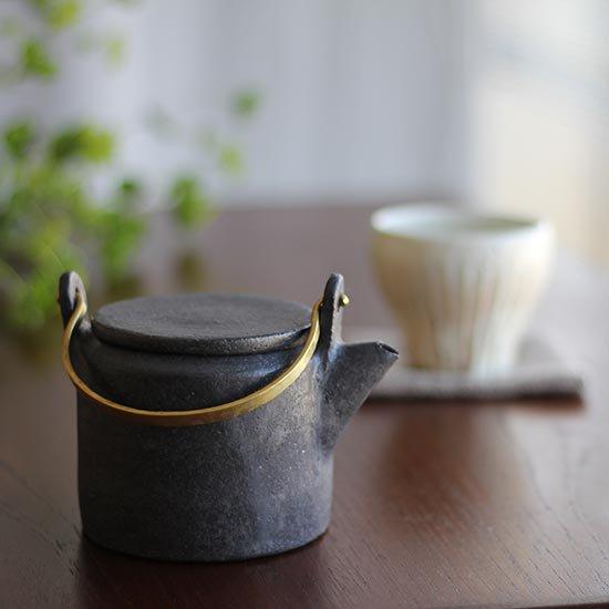 真鍮持ち手ポット M / 石川若彦