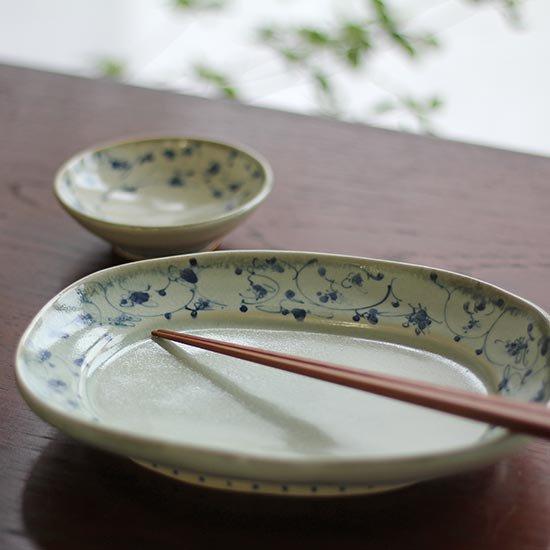 花唐草 オーバル皿 / 石井桃子