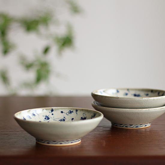 花唐草 3寸小皿 / 石井桃子