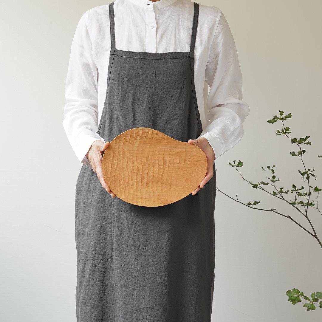 手彫り変形皿 L / 尾池豪