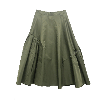 20 SS アシメギャザーフレアスカート
