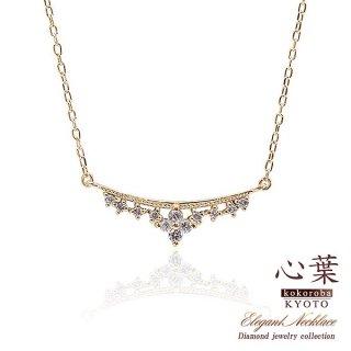 心葉 ダイヤモンド フラワーネックレス K10 【当日出荷:平日13時までのご注文】