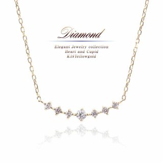 K18 ダイヤモンド ネックレス 【当日出荷:平日13時までのご注文】
