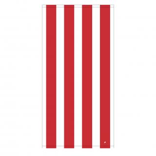 今治 バスタオル × OCEAN 刺繍入り Red 1,200匁