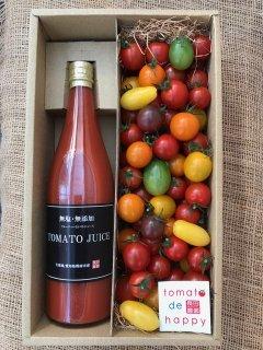 贈り物にピッタリ 長田農園No.1ギフト ジュエリートマト&無塩無添加本当に贅沢なトマトジュース