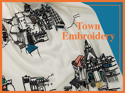 Town Embroidery